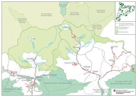 Límits del Parc Natural de les Capçaleres del Ter i del Freser