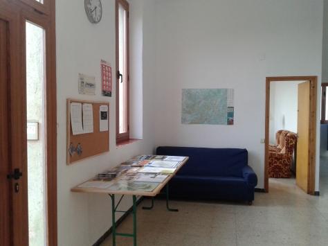 Vista de la recepció del refugi