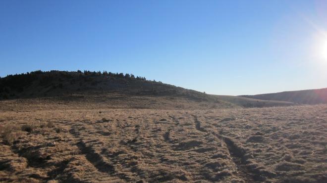 En aquest cas, hem vorejat el Puig de la Clapa per la dreta per evitar el desnivell.