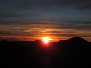 Sortida de sol a Santa Margarida de Coll d'Ares