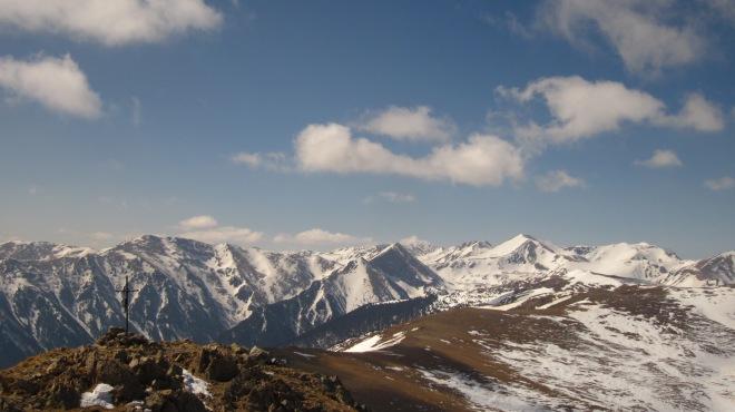 Vista magnífica del Pirineu Oriental des del cim de Costabona