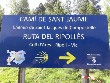 Cartell senyalitzador de la via del Ripollès